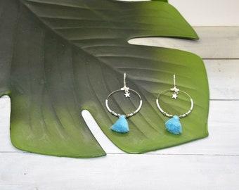 Creole earrings silver