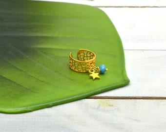 Ring adjustable gold