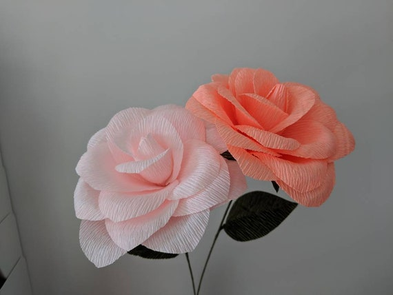 Downloadable Crepe Paper Rose Template Pdf Printable Download Diy Paper Flower Template Paper Rose Template