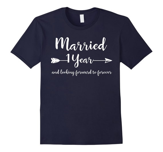First Wedding Anniversary Gifts For Him Her Couples T Shirt Etsy