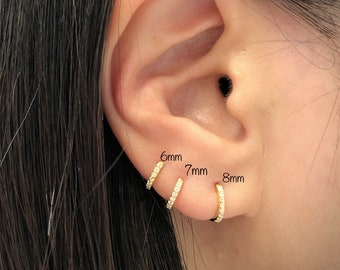 child half inch hoops Single Tiny HOOP hypoallergenic nickel free Cecile Stewart Jewelry cartilage hoop nose ring conch earring
