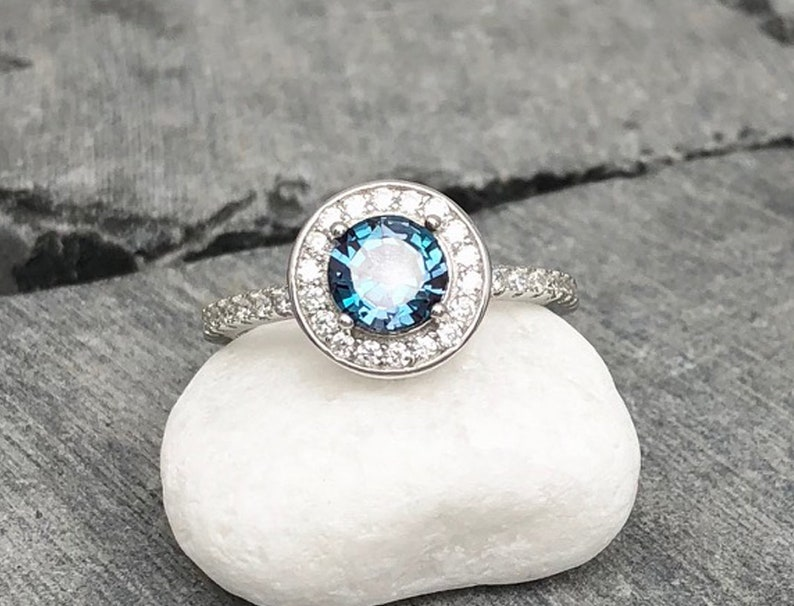Fine Rings Fine Jewelry 925 Sterling Silver Rose Cut Diamond Tanzanite Ethiopian Opal Victorian Ring Carefully Selected Materials