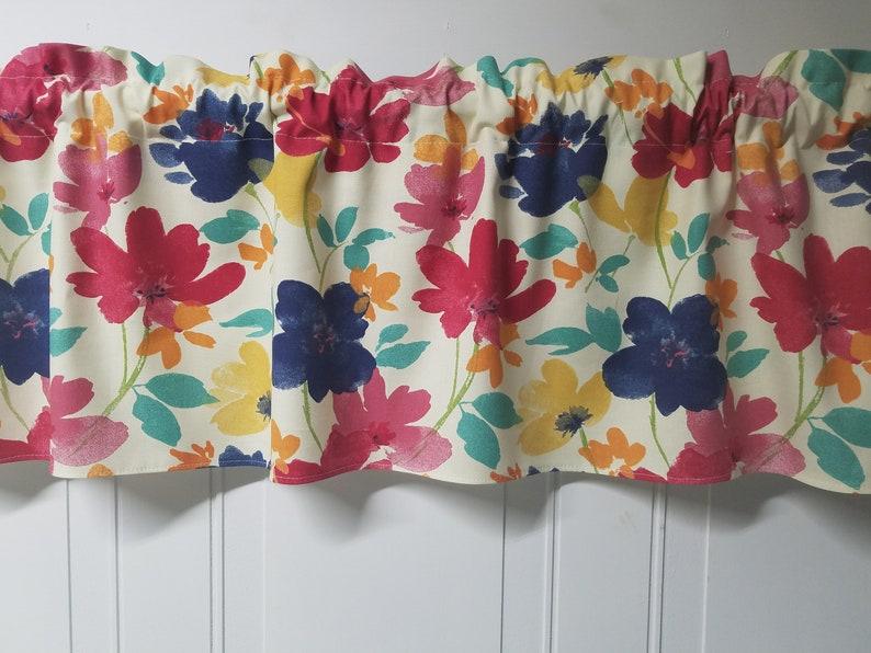 Richloom Cecille Boho Custom made Kitchen Bedroom Bathroom Window topper 42 Valance Curtain