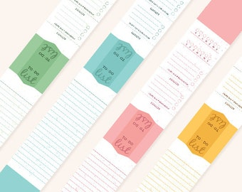 Productivity BOOKMARKS Set of 4 - DOWNLOAD