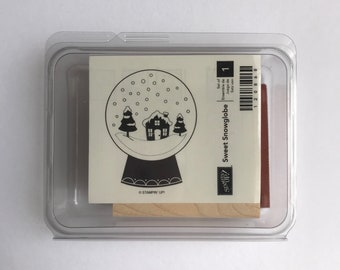 Sweet Snowglobe - Stampin' Up! - NEW Wood Mounted Rubber Stamp - Retired
