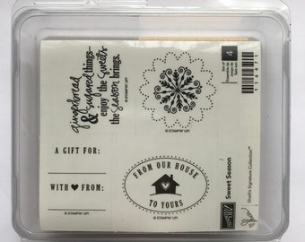 Sweet Season - Stampin' Up! - NEW Wood Mounted Rubber Stamp Set - Retired