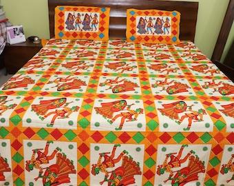 Printed Bed Sheets Etsy - Orange print sheets
