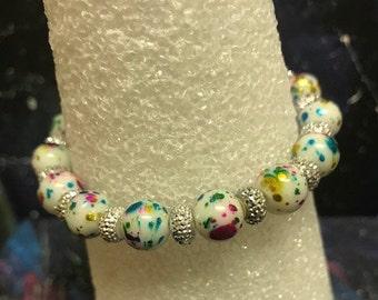 Handmade Jawbreaker Style Bead bracelet