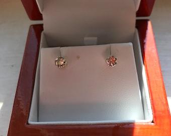 1/2 KT Yellow Gold Diamond earrings