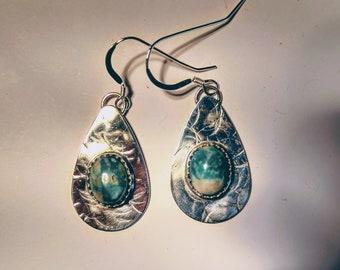 Kingman Turquoise Earrings-FREE SHIPPING