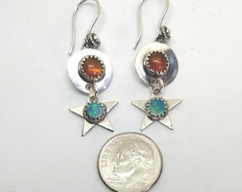 Double Opal Earrings, part of our Sun and Stars Collection