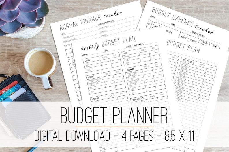 Budget Planner Printable Monthly Budget Printable Finance image 0