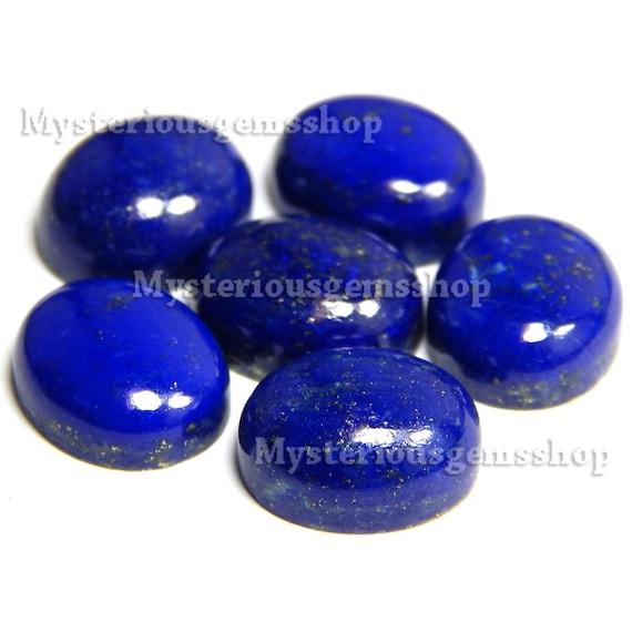 10 pieces lapis lazuli oval shape cabochon natural gemstone calibrated size