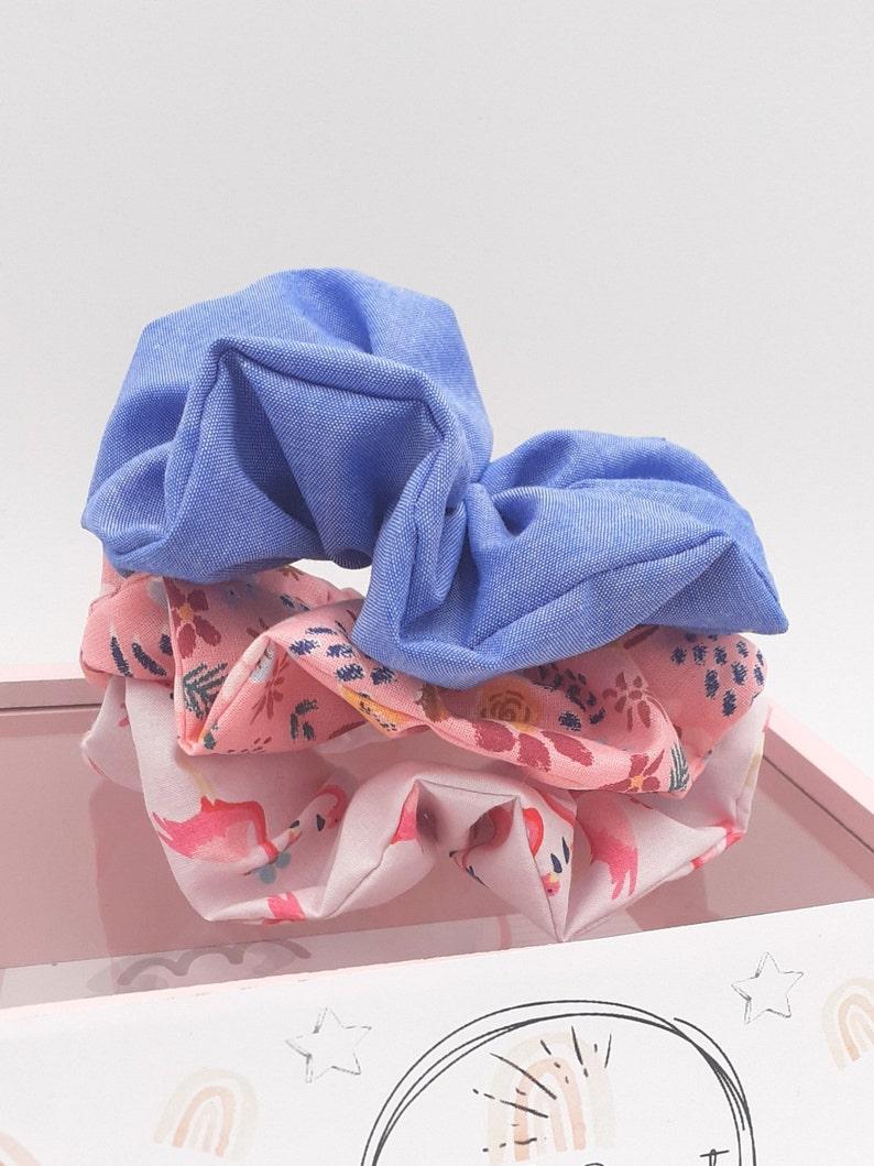 LOT 3 Chouchous  hair Scrunchie Girl in cotton