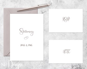Note card mockup etsy stationery mockup card mockup or invitation mockup with lavender envelope rsvp note cards on marble surface accented with rose gold pen reheart Images