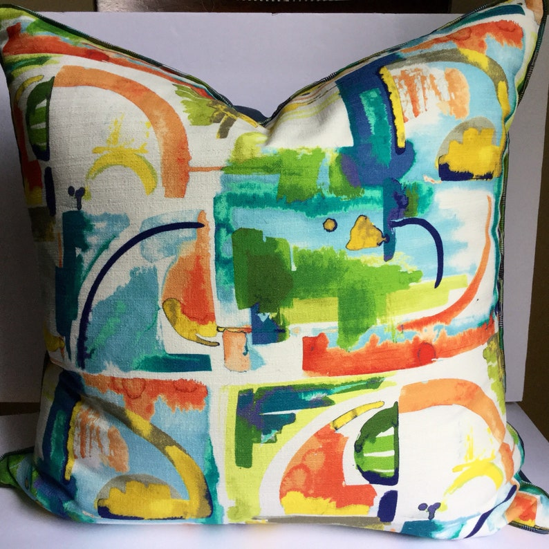 Abstract Art Multi Color Floor or Euro Pillow Cover Sham 25 image 0