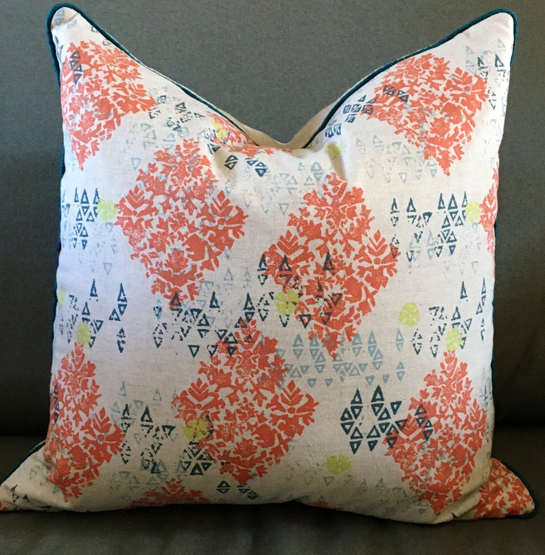 Decorator throw pillow cover 22 inch square Pindler & Pindler image 0