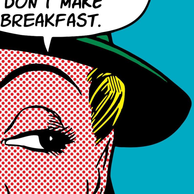 Roy Lichtenstein Style Customizable Pop Art No Plans No Breakfast  Vintage Comics Digital Print Download