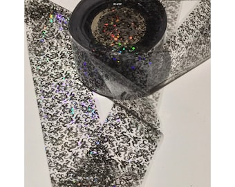 Transfer foil, film, for nail art and craft - black lace glitz