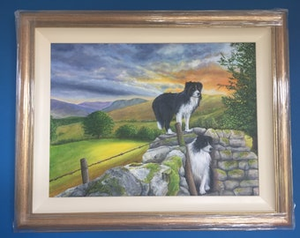 Two collies on the Hill