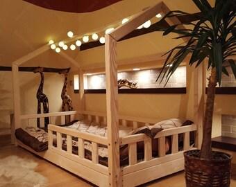 Letto Per Bambini Montessori : Letto montessori house bed eur picclick it