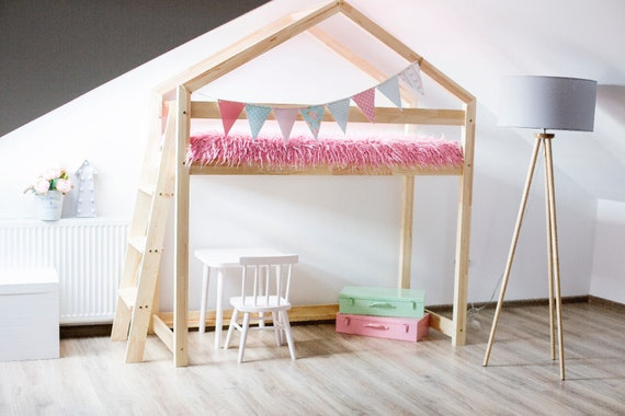 Kinder Etagenbett Haus : Hochbett haus stapelbett thuis trst bett