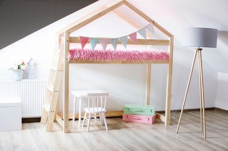 Etagenbett Haus : Kinder etagenbett haus ohne matratze 11 maße neue naturholz etsy