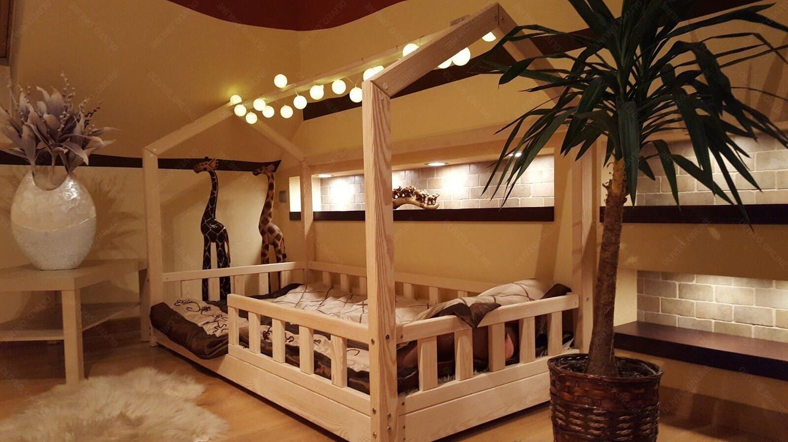 Haus-Bett mit Barrieren Kinder Bett Haus Bett für Kinder | Etsy