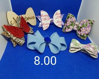 A perfect bow box selection,birthday bows,hair accessories box,Hair bows,hair slides,Hair bows,birthday present,girls bows
