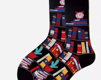 ed82a2b7d4082 The Book Story Socks | men socks | colorful socks | socks | socks | womens  socks | patterned socks | crazy sock | Library | Wedding Gift