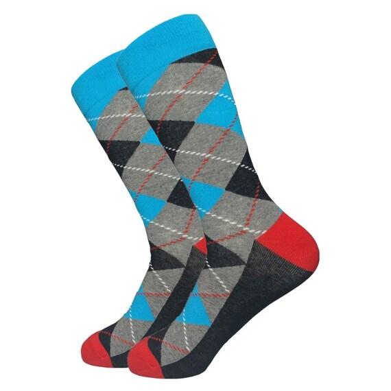 Mens Argyle Dress Socks Colorful Socks Gift for Men Cool  cb8165ca2f3