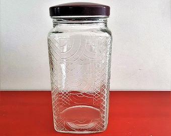 Vintage Lidded glass jar