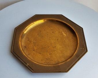 Plat en laiton  vide-poche en laiton  plat octogonal doré  plat  ancien  plat en métal  plateau en laiton  plateau vide-poche  vide-poche 3bf1b158fed