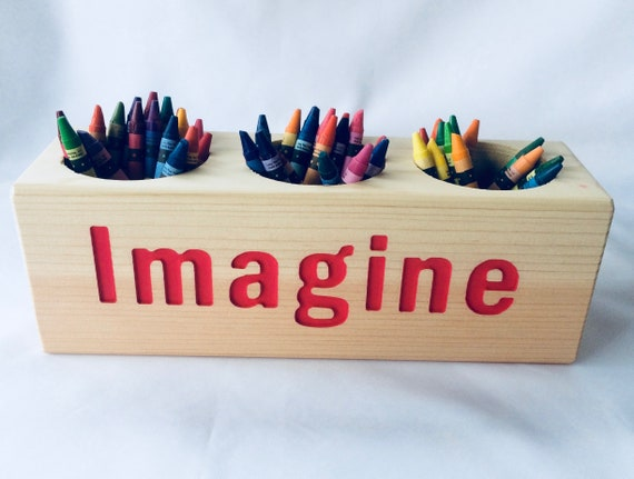 dream and imagine wooden crayon holders or small flower holder etsy