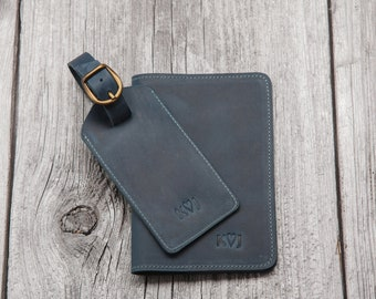 Leather passport cover, personalized passport holder, travel gift for men and women