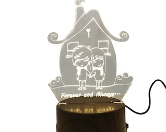 Terrarium Lamp, Young Lovers, Home Decoration, Birthday Gift