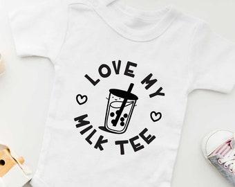 Love My Bubble Milk Tea Baby Onesie | Gender Neutral Baby Bodysuit