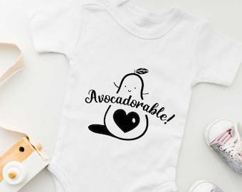 Avocado Food Pun Funny Baby Onesie | Gender Neutral Baby Bodysuit