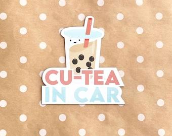 Weatherproof Car Magnet | Bumper Magnet Cu-tea in Car Bubble Tea/Boba Tea Baby in Car, Kids in Car, Baby on Board