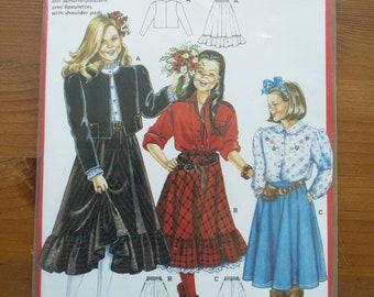 Vintage 1980s Children's Sewing Pattern - Paper Pattern - Children's Skirt and Jacket Pattern - Vintage Children's Wear - Brand New