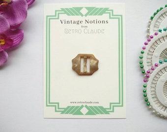 Vintage 1930s Art Deco Buckle Dress Buckle Belt Buckle Bakelite Buckle Gold Buckle Sewing Buckle