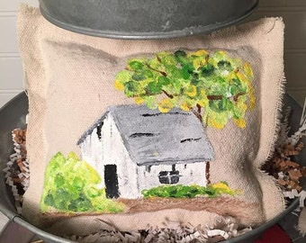 Mini Hand Painted Pillows