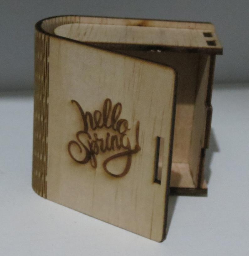 wooden box wood Living Hinge