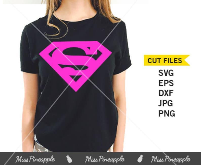 f4c5f8a5626a5 SUPERMAN SYMBOL PINK Supergirl T Shirt Onesie Cuttable File