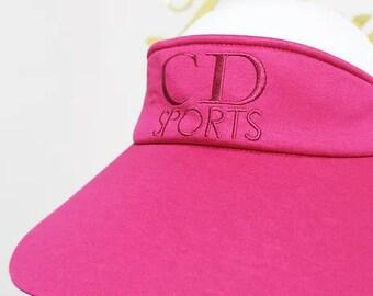 5db82264c Chanel Vintage Sports Line Sun Visor Hat Navy | Etsy