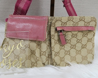 b31a94557d0 Gucci Fanny Pack Bum Bag Monogram Pink Details
