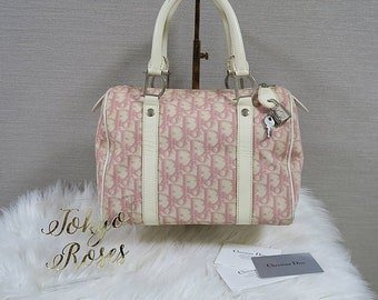 6347364a4084 Christian Dior Pink Trotter Logo Print Boston Bag Handbag