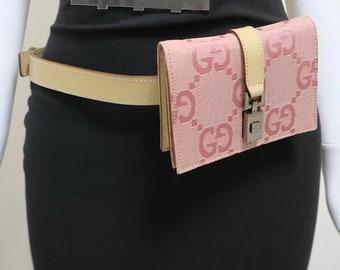 6542bf861fd Pink Gucci GG Monogram Fanny Pack Bum Bag Crossbody Belt