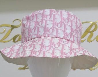 Christian Dior Pink Monogram Logo Print Bucket Hat 212217779dd