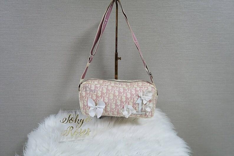 e51657561fad Christian Dior Pink Girly Cross Body Handbag Trotter Logo